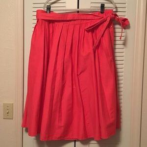 Eloquii Red Midi Skirt